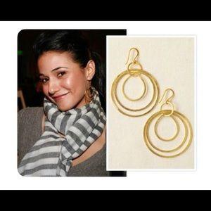 RETIRED Stella & Dot Gilda Hoop Earrings, Gold